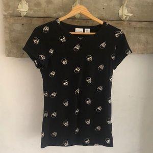 Skull print modal T-shirt